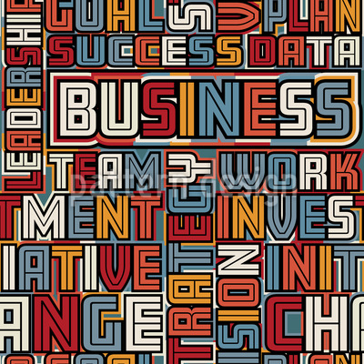 ビジネスワード シームレスなベクトルパターン設計