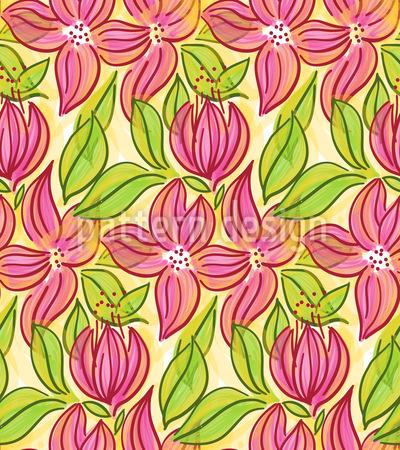 Große Blüten Muster Design