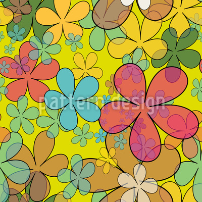 Hübsche Wildblumen Vektor Muster