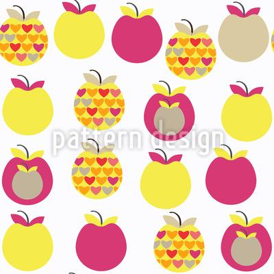 Bunte Äpfel Rapportmuster