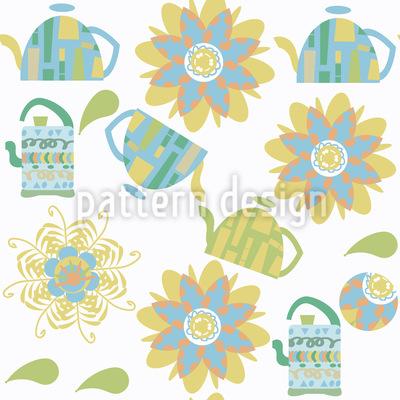 Tee von Blumen Musterdesign