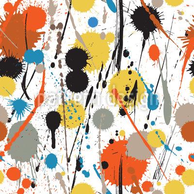 Verschiedene Farbtropfen Muster Design