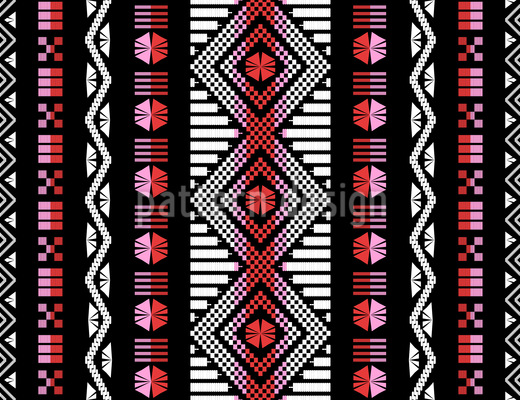 Moroccan Weave Art Seamless Vector Pattern Design
