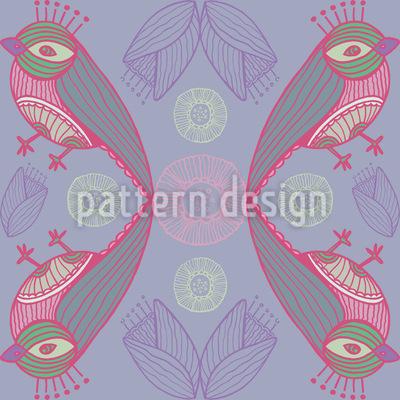 Mystischer Vogelkuss Muster Design