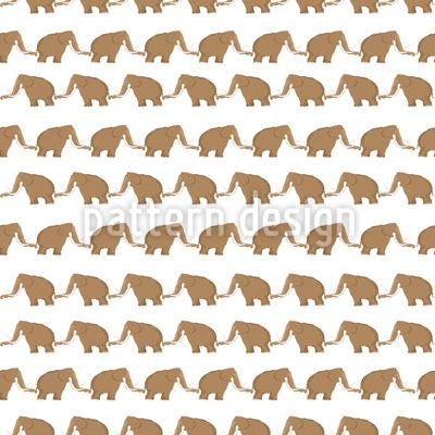 Mammuts zu Fuß Vektor Muster