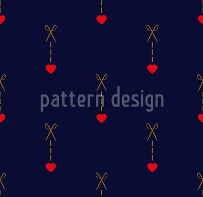 Schere schneidet zum Herz Vektor Ornament