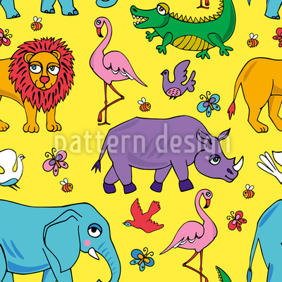 Tiere Afrikas Vektor Design