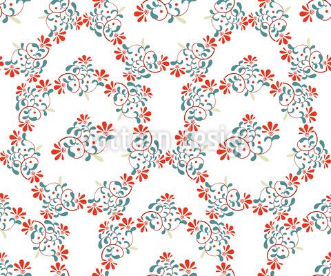 Blumenkronen Vektor Muster