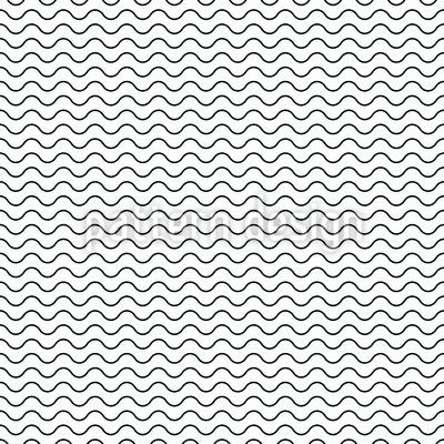 Wellenförmige Linien Nahtloses Vektormuster