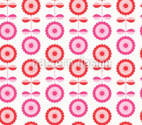 Blume-Illusion Nahtloses Vektor Muster