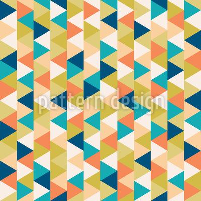 Triângulos aninhados Design de padrão vetorial sem costura