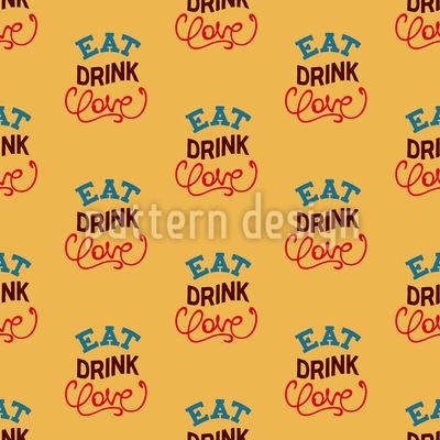 Eat Drink Love Motto Vektor Design