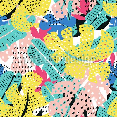 Tropische Texturblätter Vektor Muster