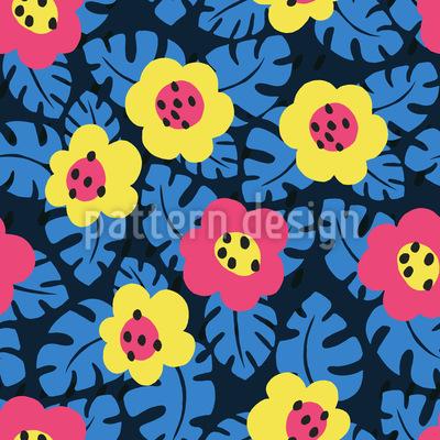 Fensterblatt-Blüten Rapport