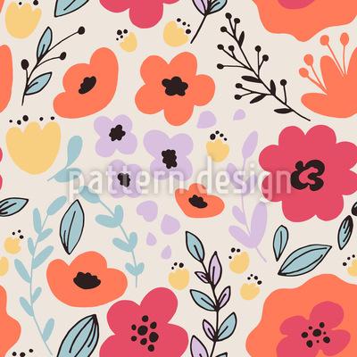 Trickling Flowers Pattern Design