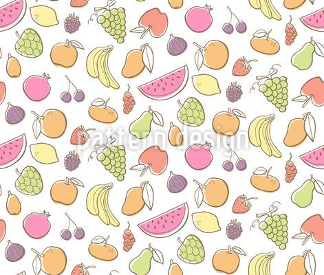 Frutas coloridas Estampado Vectorial Sin Costura