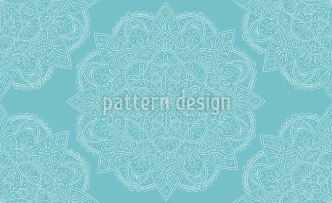 Niedliches und orientalisches Mandala Vektor Muster