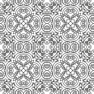フィリグリーライン シームレスなベクトルパターン設計