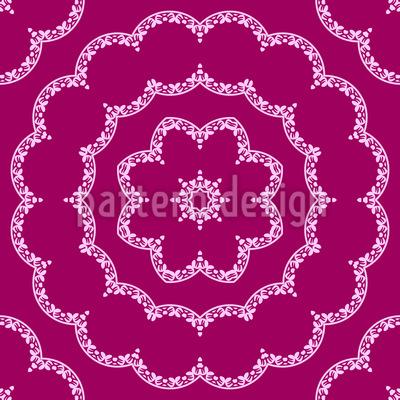 Verzierte Florale Kreise Musterdesign