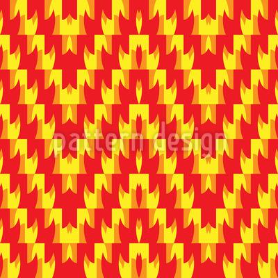 Zick-Zack Flamme Vektor Muster