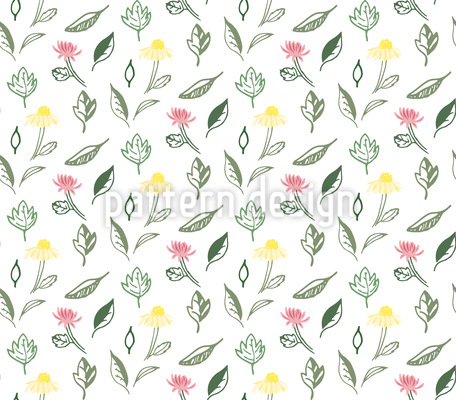 Sommer Garten Blumen Designmuster