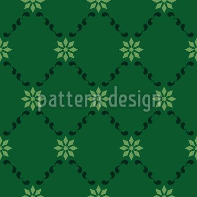 Blumenkette Nahtloses Vektor Muster