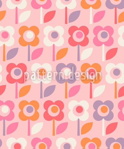 Retro Pop Floral Muster Design