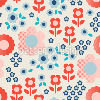 Halbton Blumen Designmuster