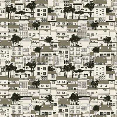 Alte Häuser Vektor Muster
