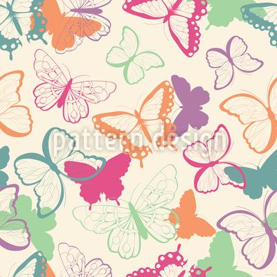 Cute Butterflies Seamless Vector Pattern Design