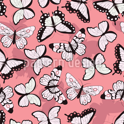 Lovely Butterflies Seamless Vector Pattern Design