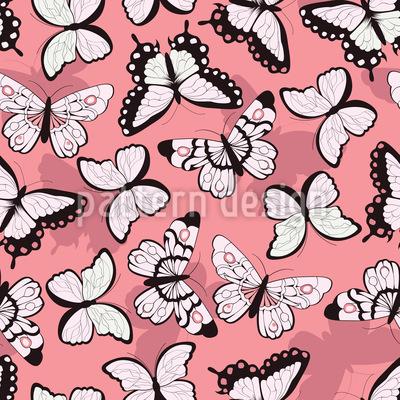Schöne Schmetterlinge Nahtloses Vektormuster