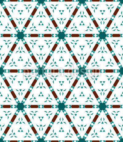 Dreiecksgitter Nahtloses Muster