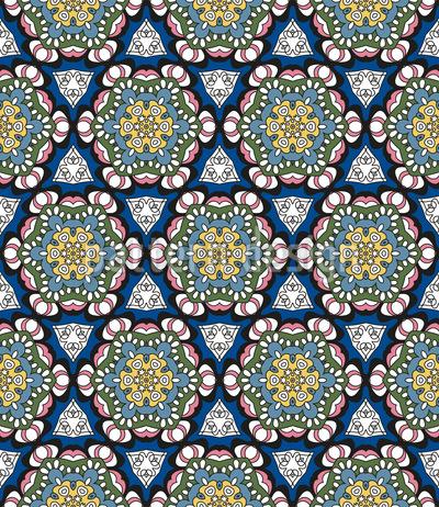 Von Blüten Und Dreiecken Rapportiertes Design