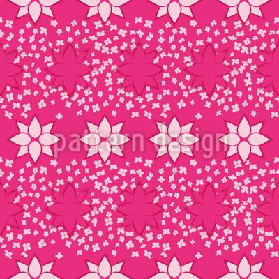 Tanzende Blumen Musterdesign