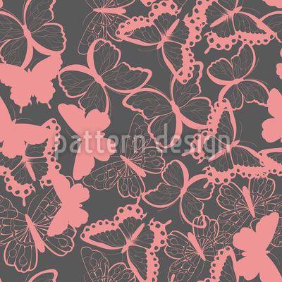 Süße Schmetterlinge Nahtloses Muster
