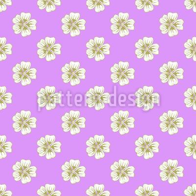 Gitter von Malvenblüten Muster Design