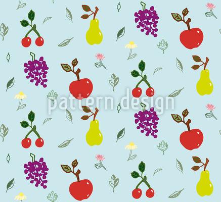 Garten-Früchte Nahtloses Muster
