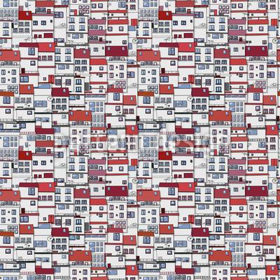 Vistas da cidade Design de padrão vetorial sem costura
