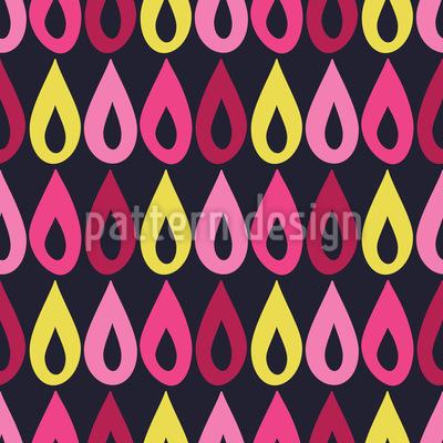 Reihe von Regentropfen Vektor Ornament