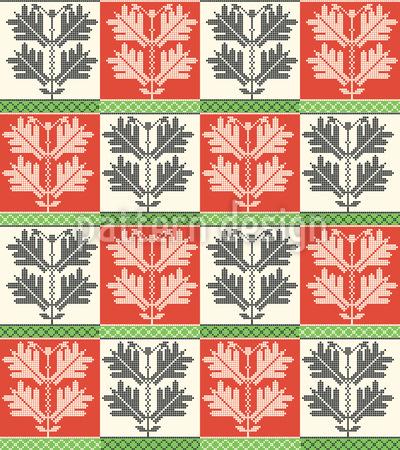 Folk húngaro Design de padrão vetorial sem costura
