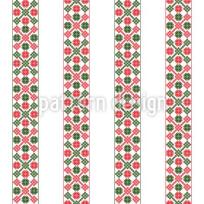 Vertical Hungarian Bordure Seamless Vector Pattern Design