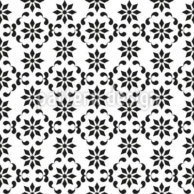 Schwingendes Blumengitter Designmuster