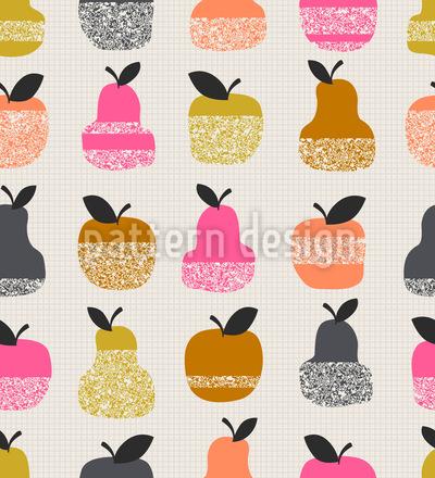 Apfel-Birnen-Textur Vektor Muster