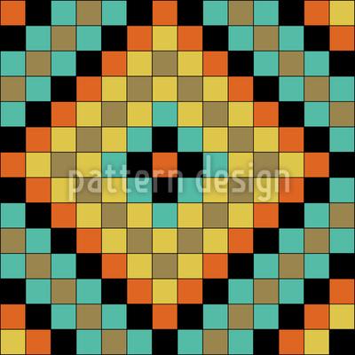 Bunte Mosaik Fliesen Nahtloses Vektormuster