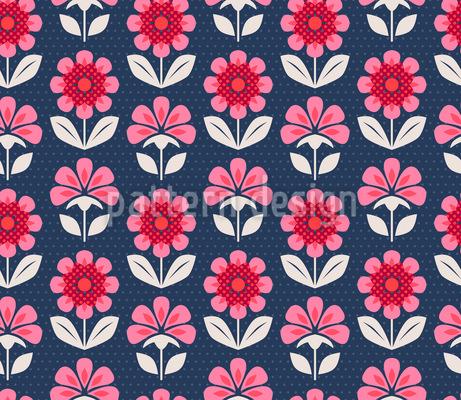Palmette Flores Design de padrão vetorial sem costura