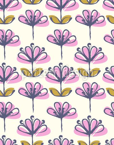 Teichblüten Vektor Ornament