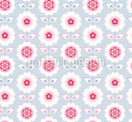 Rüschchenblüten Rapportiertes Design