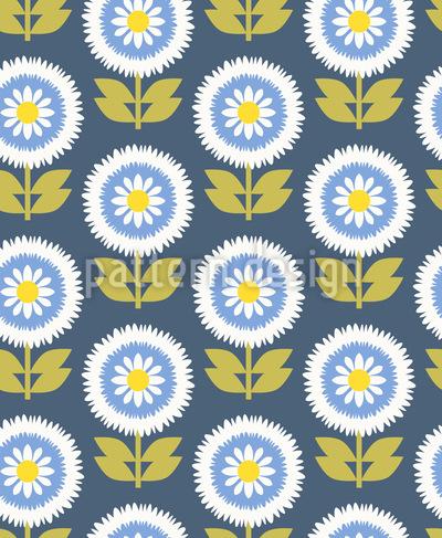 Buschige Blüten Designmuster