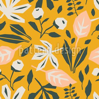抽象的な葉 シームレスなベクトルパターン設計
